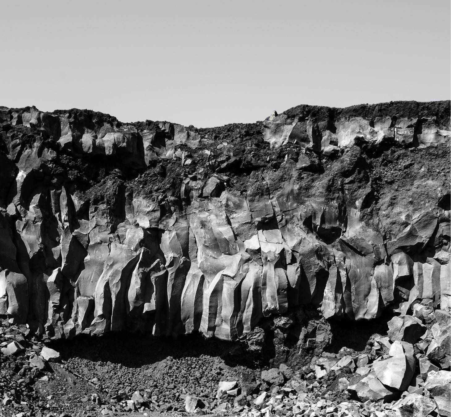 La lava dell'Etna da cui ha origine Nerosicilia