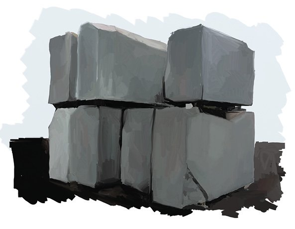 Processo produttivo superfici pietra lavica, i blocchi