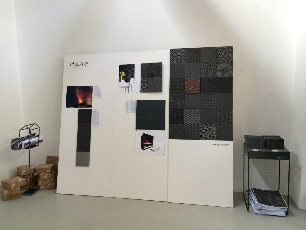 La pietra lavica Nerosicilia a Centrale FS - Milano Design Week 2015