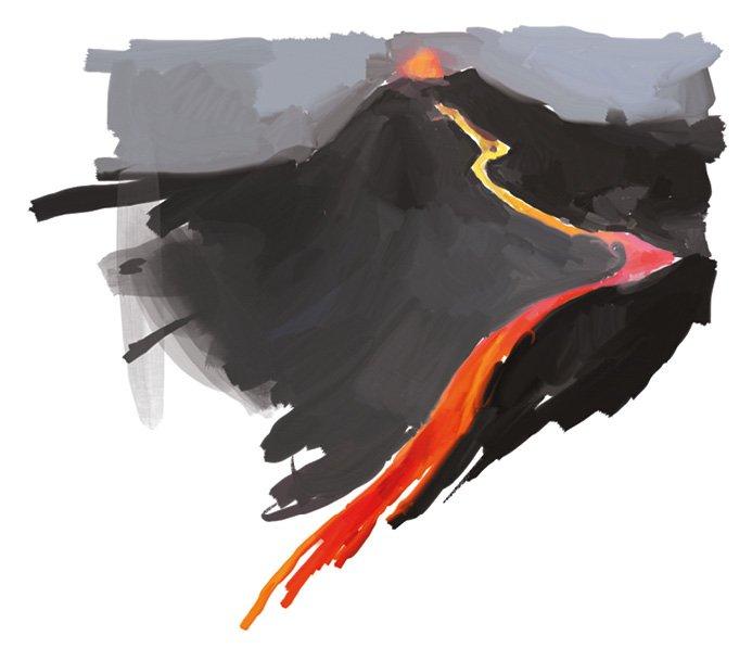 Processo produttivo superfici pietra lavica, il magma