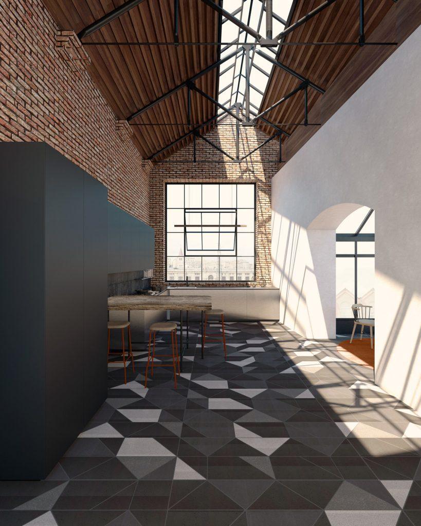 Loft Industriale progettato da Spazio Materiae