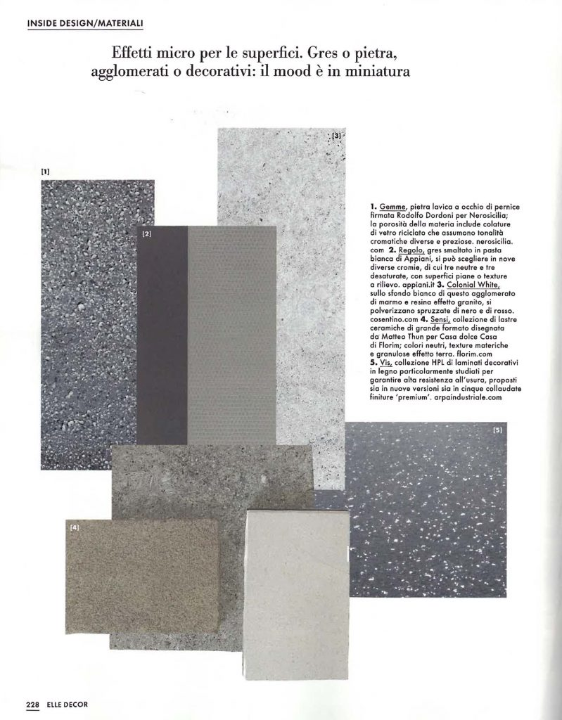 Nerosicilia sulla prestigiosa rivista Elle Decor Ottobre 2019