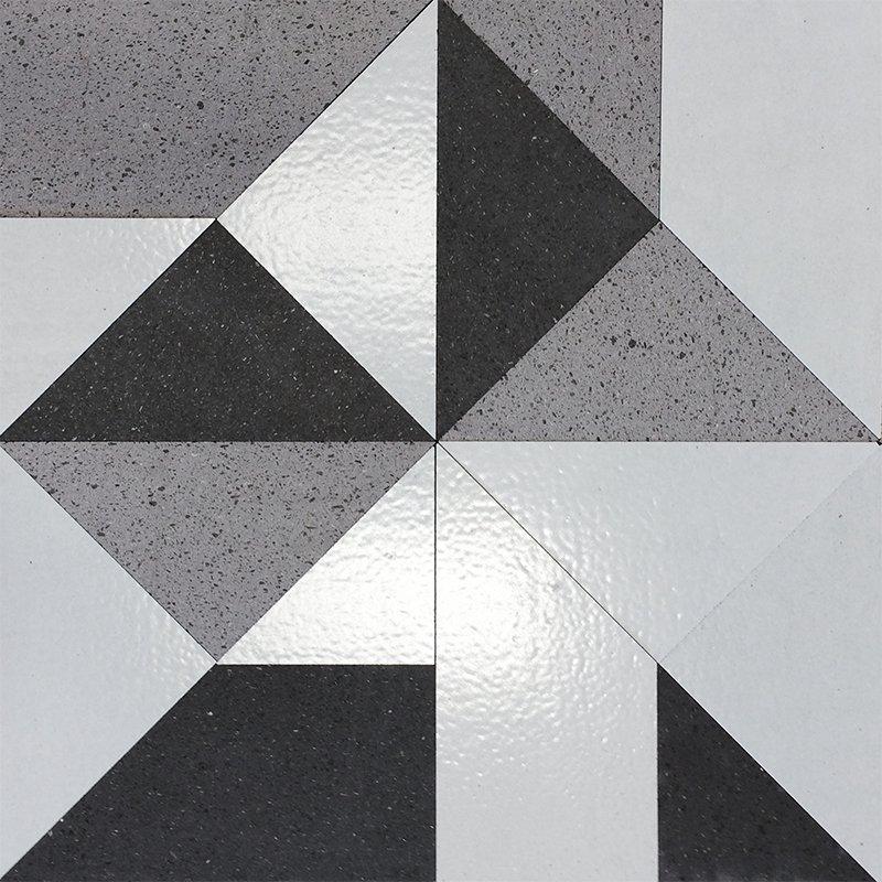 Superfici in pietra lavica Multiplem in bianco e nero