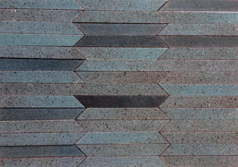Muretto in pietra lavica celeste Colourfield Nerosicilia
