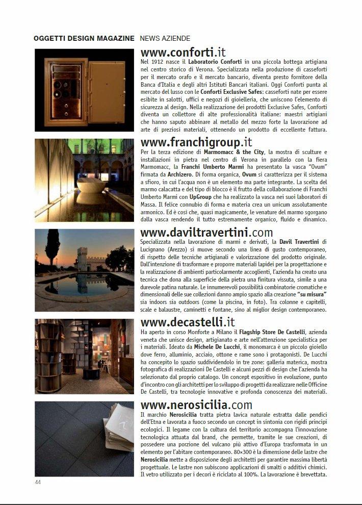 Nerosicilia su Oggetti Design Magazine 2014